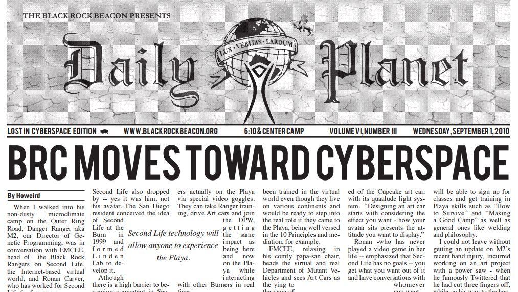 BRC MOVES TOWARD CYBERSPACE – The Black Rock Beacon