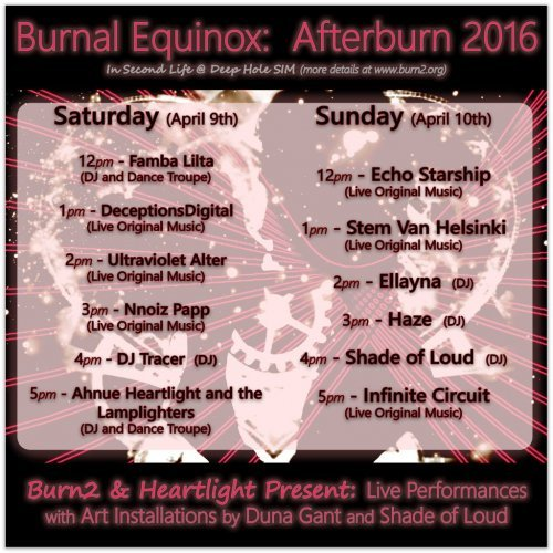 It's Not All Over Yet…There's Burnal Equinox Afterburn!