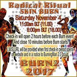 Radical Ritual SKIN BURN! Saturday November 4th